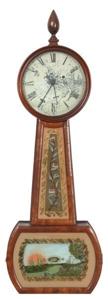 David L. Williams Weight Driven Banjo Clock