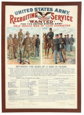Dated 1904 U.s Army Recruting Poster
