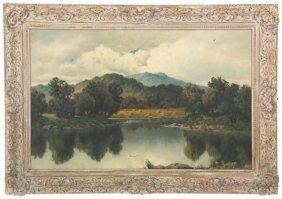 F. Ogden O/c Landscape Painting
