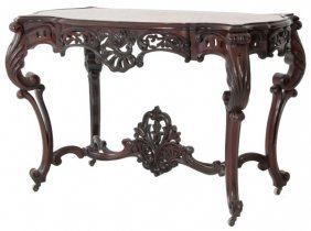 Attr: Roux Carved Rosewood Center Table