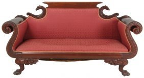 Federal Carved Mahogany Sofa