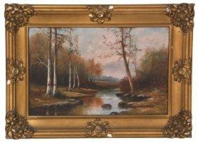 F. Matzow O/c Riverbed Scenic Landscape