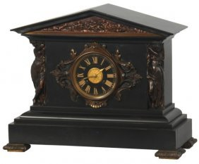 Marble & Bronze Mantle Clock