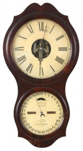 Ithaca No. 4 Office Calendar Wall Clock
