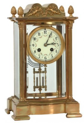 French Brass Crystal Regulator