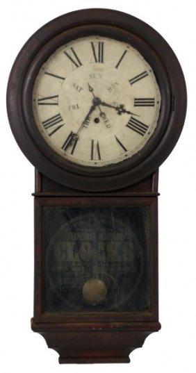 Welch Spring Driven Calendar Wall Clock