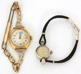 2 Pcs. Tiffany & Rolex Ladies Watches