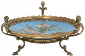 12 In. Cloisonne & Gilt Bronze Centerpiece