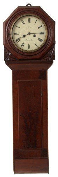 English Weight Driven Mahogany Tavern Clock
