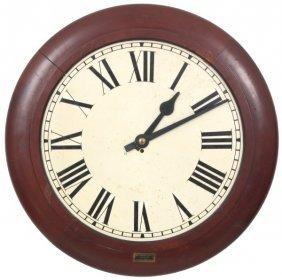 24 In. Dial Mahogany Fusee Gallery Clock