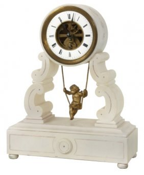 Farcot French Figural Swinger Mantle Clock