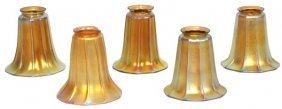 5 Gold Iridescent Artglass Shades