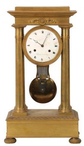 French Empire Style Portico Clock