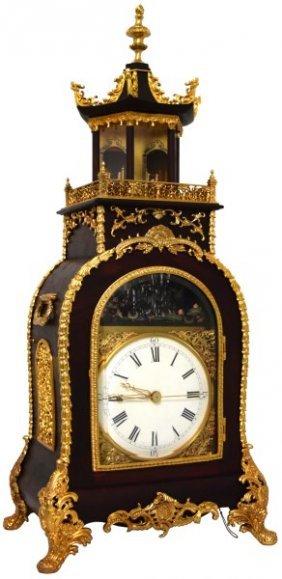 Chinese Triple Fusee Animated Bracket Clock