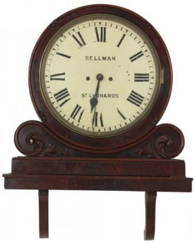 Unusual Carved Mahogany Fusee Bracket Clock
