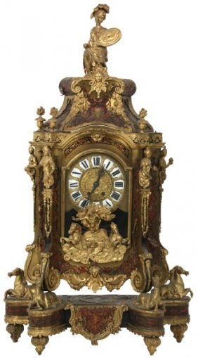 Brass & Boulle Inlaid Bracket Clock