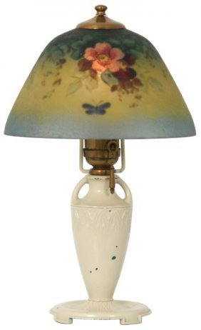 8 In. Moe Bridges Reverse Painted Boudoir Lamp