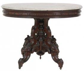 Thos. Brooks Marble Top Table