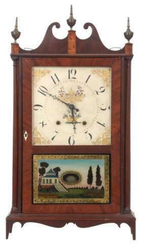 Terry & Sons Pillar & Scroll Mantle Clock