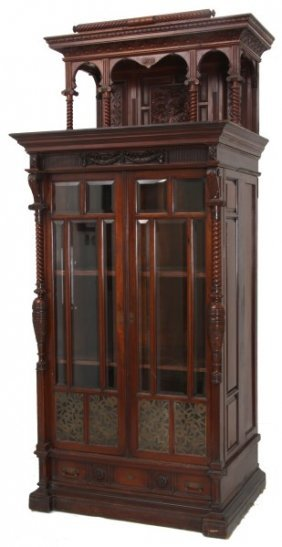 Eastlake Mahogany 2 Door Bookcase