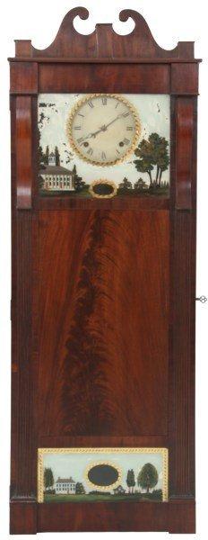Joseph Ives Mahogany 8 Day Shelf Clock