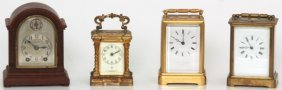 3 Carriage Clocks & Miniature Bracket Clock