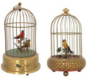 2 Animated Singing Bird Cages