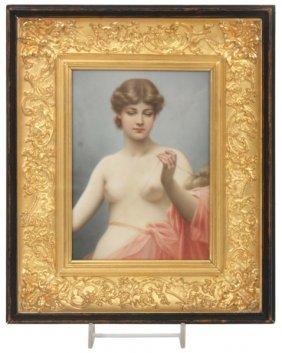 Porcelain Portrait Plaque Of Clotho