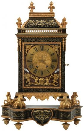 French Boulle & Brass Inlaid Bracket Clock