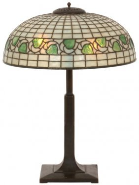 18 In. Bigelow & Kennard Leaded Table Lamp
