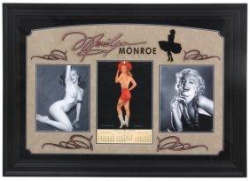 Framed Marilyn Monroe Ephemera