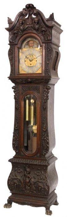 Oak Horner Grandfather Clock