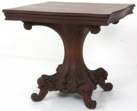 Tobey Mahogany Carved Center Table
