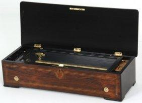 Inlaid B.a. Bremond Cylinder Music Box