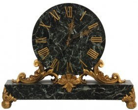 Caldwell Bronze Mounted Marble Mantle Clock