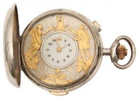 Quarter Hour Repeater Automaton Pocket Watch