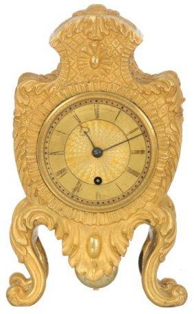 English Bronze & Ormolu Fusee Mantle Clock