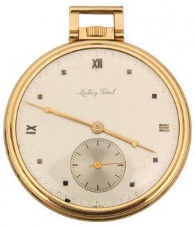 14k Gold Mathey Tisssot Pocket Watch