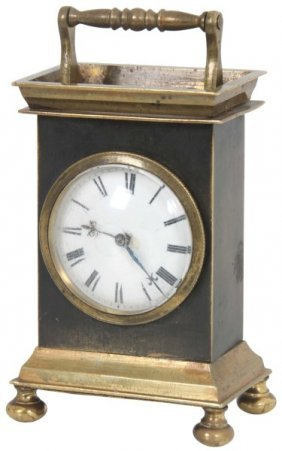 English Verge Fusee Bronze Carriage Clock