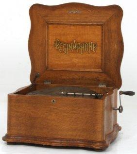 Oak Style 155 Reginaphone Music Box
