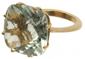 Roberto Coin 18k Gold & Prasiolite Ring