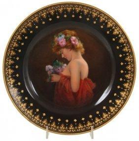 9.5 In. Dresden Porcelain Portrait Plate