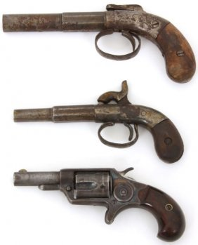 3 Antique Pistols