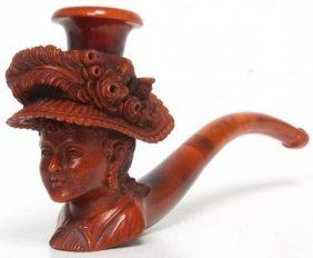 Figural Carved Wdc Meerschaum Pipe