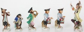 6 Pc. Japanese Porcelain Figural Monkey Orchestra