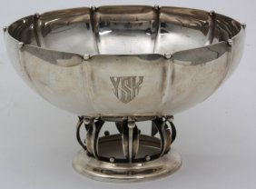 Hamilton Silver Co. Lily Of The Valley Footed Bowl