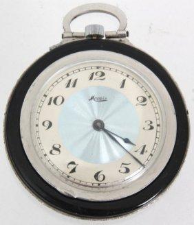 Mapin Platinum & Enamel Pocket Watch