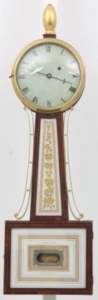 American Mahogany Banjo Clock