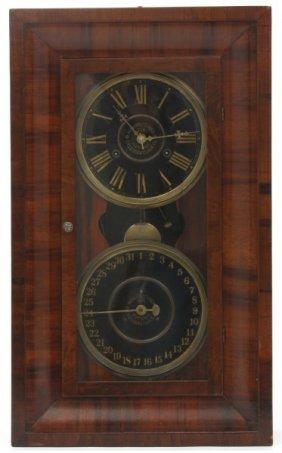 American Double Dial Calendar Clock