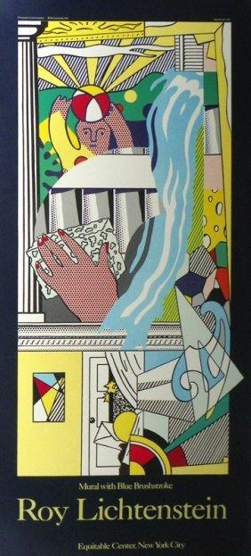 Large Exhibition Poster By Roy Lichtenstein